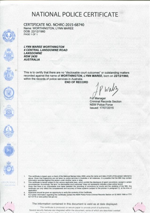 Police Certificate Translation NAATI | Perth Translation