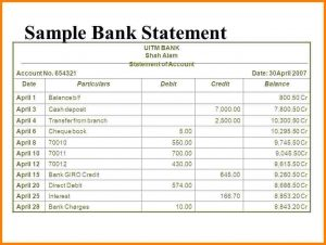 bank statement translation