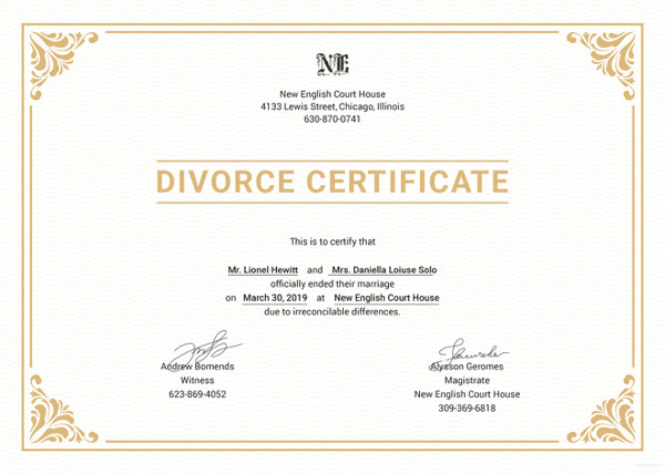 How To Request A Copy Of Your Marriage Certificate Online: Divorce Certificate Translation NAATI