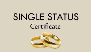single status certificate translation